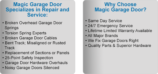 Magic TX Garage Door Benefits